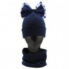 Kepurės ir movos komplektas su kaspinu VK344
