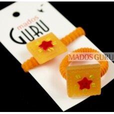 """Oranžinės sp. gumelė """"Žvaigždutė"""" G068"""